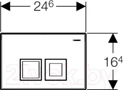Кнопка для инсталляции Geberit Delta 50 115.135.11.1 - схема