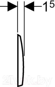Кнопка для инсталляции Geberit Kappa 50 115.260.46.1 - схема