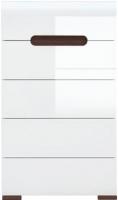 Комод Black Red White Azteca S205-KOM5S/10/6 (белый/белый блеск) -