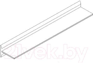 Полка Black Red White Azteca S205-P/2/15 (белый блеск)