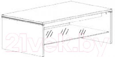 Журнальный столик Black Red White Azteca S205-LAW/4/11 (белый/белый блеск)