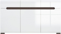 Тумба Black Red White Azteca S205-KOM3D3S/8/15 (белый/белый блеск) -