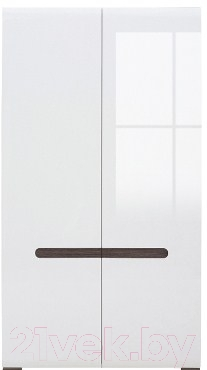 Шкаф Black Red White Azteca S205-SZF2D/19/11 (белый/белый блеск)