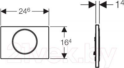 Кнопка для инсталляции Geberit Sigma 10 New 115.758.KL.5 - схема