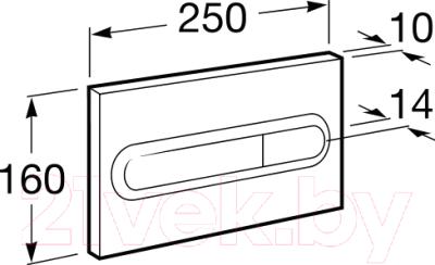 Кнопка для инсталляции Roca PL1 Dual 890095001 (хром)