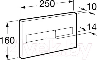 Кнопка для инсталляции Roca PL2 Dual 890096001 (хром) - схема