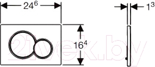 Кнопка для инсталляции Geberit Sigma 115.770.KA.5 - схема