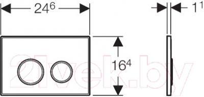 Кнопка для инсталляции Geberit Sigma 20 New 115.778.SN.1  - схема