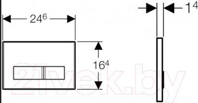 Кнопка для инсталляции Geberit Sigma 50 New 115.788.00.1 - схема