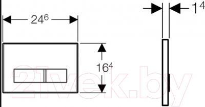 Кнопка для инсталляции Geberit Sigma 50 New 115.788.11.5 - схема