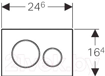 Кнопка для инсталляции Geberit Sigma 20 115.882.KH.1 - схема