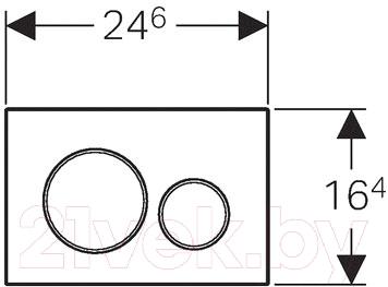 Кнопка для инсталляции Geberit Sigma 20 115.882.KM.1 - схема