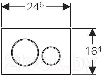 Кнопка для инсталляции Geberit Sigma 20 115.882.KN.1 - схема