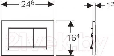 Кнопка для инсталляции Geberit Sigma 30 115.883.KK.1 - схема