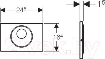 Кнопка для инсталляции Geberit Sigma 10 115.890.SN.5 - схема