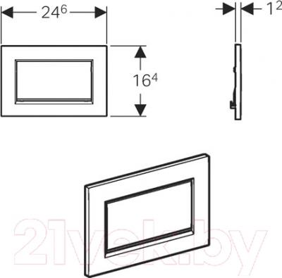 Кнопка для инсталляции Geberit Sigma 30 115.893.KX.1 - схема