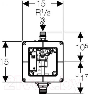 Блок управления смывом писсуара Geberit 116.004.00.1 - схема