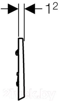 Кнопка для инсталляции Geberit Bolero 116.012.21.1 - схема