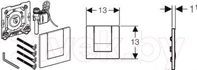 Кнопка для инсталляции Geberit Tango 116.014.21.1 - схема