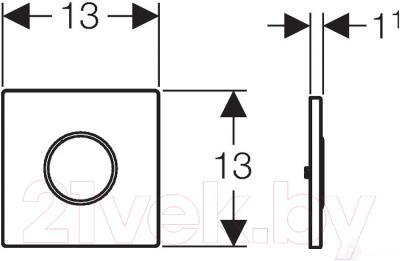 Кнопка для инсталляции Geberit HyTronic Mambo 116.023.FW.1 - схема