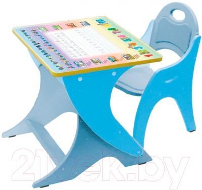 Парта+стул Интехпроект Буквы-Цифры 14-395 (голубой/сизый)