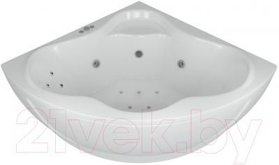 Ванна акриловая Aquatek Галатея 135x135 (с гидромассажем и экраном)