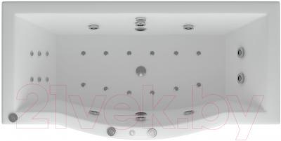 Ванна акриловая Aquatek Гелиос 180x90 (с гидромассажем и экраном)