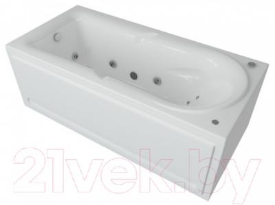 Ванна акриловая Aquatek Леда 170x80 (с гидромассажем и экраном)