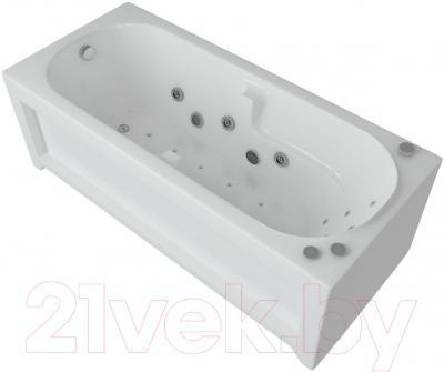 Ванна акриловая Aquatek Лея 170x75 L (с гидромассажем и экраном)