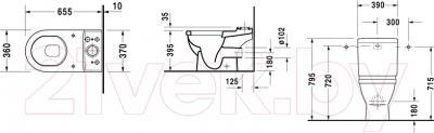 Унитаз напольный Duravit Starck 3 (0126090000) - схема