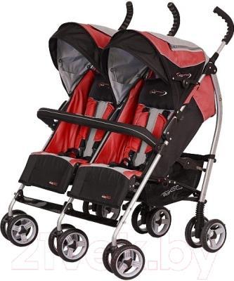 Детская прогулочная коляска EasyGo Duo Comfort (Scarlet)