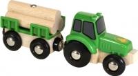 Элемент железной дороги Brio Трактор с бревнами 33799 -