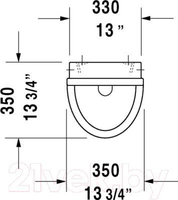 Писсуар Duravit Starck 3 (0821350000) - схема