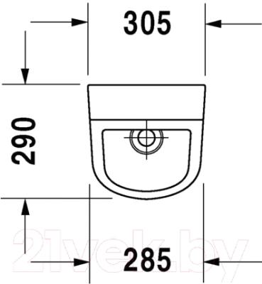 Писсуар Duravit D-Code 0829300000
