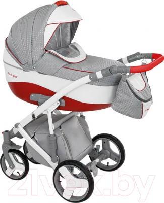 Детская универсальная коляска Camarelo Avenger AV-7 (красный/серый жаккард)