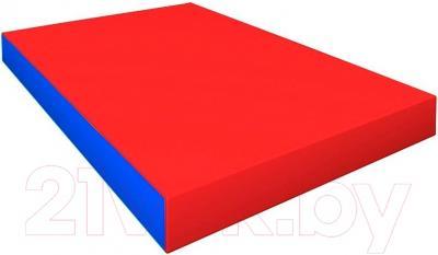 Гимнастический мат Зубрава 0.5х0.6х0.1 (красный/синий)
