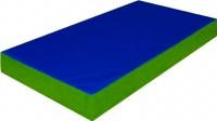 Гимнастический мат Зубрава 0.5х0.6х0.1 (синий/зеленый) -