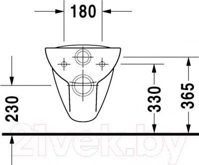 Унитаз подвесной Duravit D-Code (25350900002) - схема