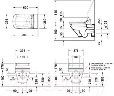Унитаз подвесной Duravit DuraStyle (2537590000)