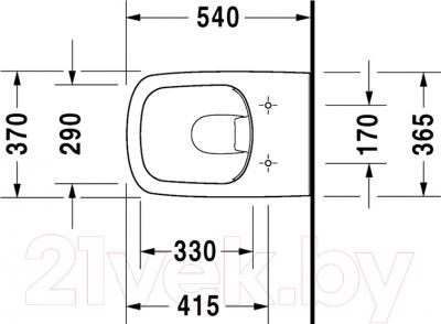 Унитаз подвесной Duravit DuraStyle (2538090000) - схема