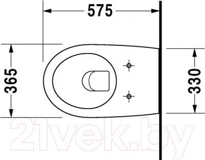 Унитаз подвесной Duravit Architec  (2546090064) - схема