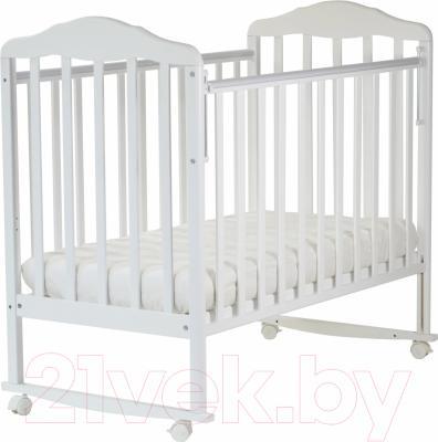 Детская кроватка СКВ Березка 120111 (белый)