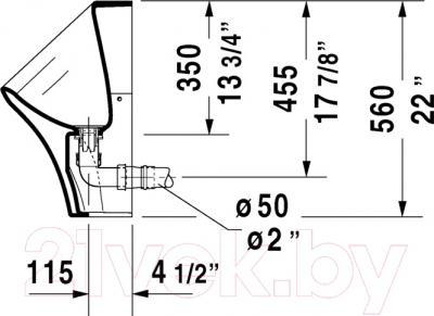 Писсуар Duravit DuraStyle Dry (2808300000) - схема