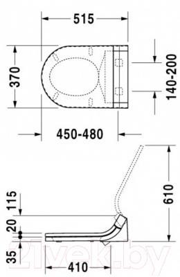 Сиденье для унитаза Duravit Starck SensoWash (610001002000300)