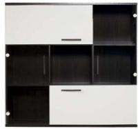 Шкаф навесной Black Red White Domingo B26-SFW2W2K (дуб венге/белый блеск) -