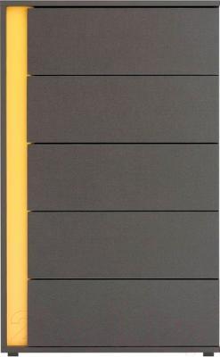 Комод Black Red White Graphic S202-KOM5SP (серый вольфрам)