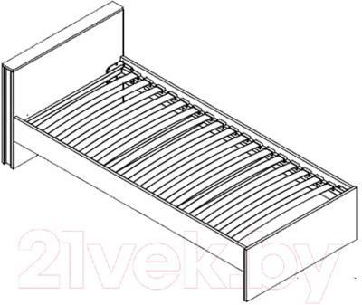 Каркас кровати Black Red White Graphic S202-LOZ/90 (серый вольфрам)