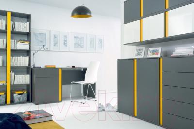 Ящик под кровать Black Red White Graphic S202-SZU (серый вольфрам/бел. блеск/желтый)