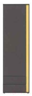 Шкаф-пенал Black Red White Graphic 202-REG1D2SL (серый вольфрам)