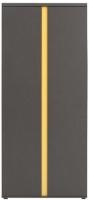 Шкаф Black Red White Graphic S202-SZF2D (серый вольфрам) -